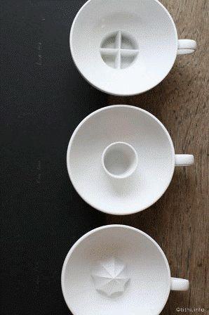 набор чашек внутри