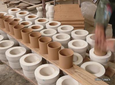 Производство кружек - извлечение из формы