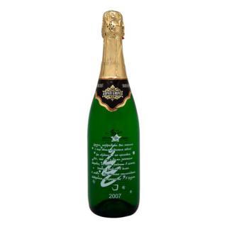 Рисунок на бутылке шампанского
