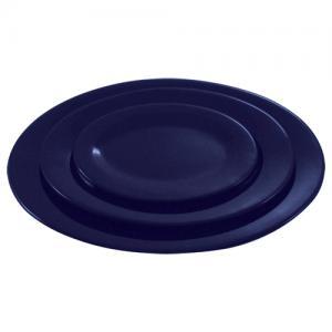 Синяя тарелка овальная 152 мм