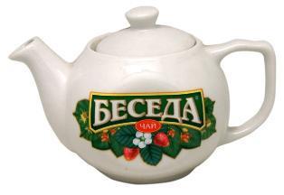 Фарфоровый чайник Беседа